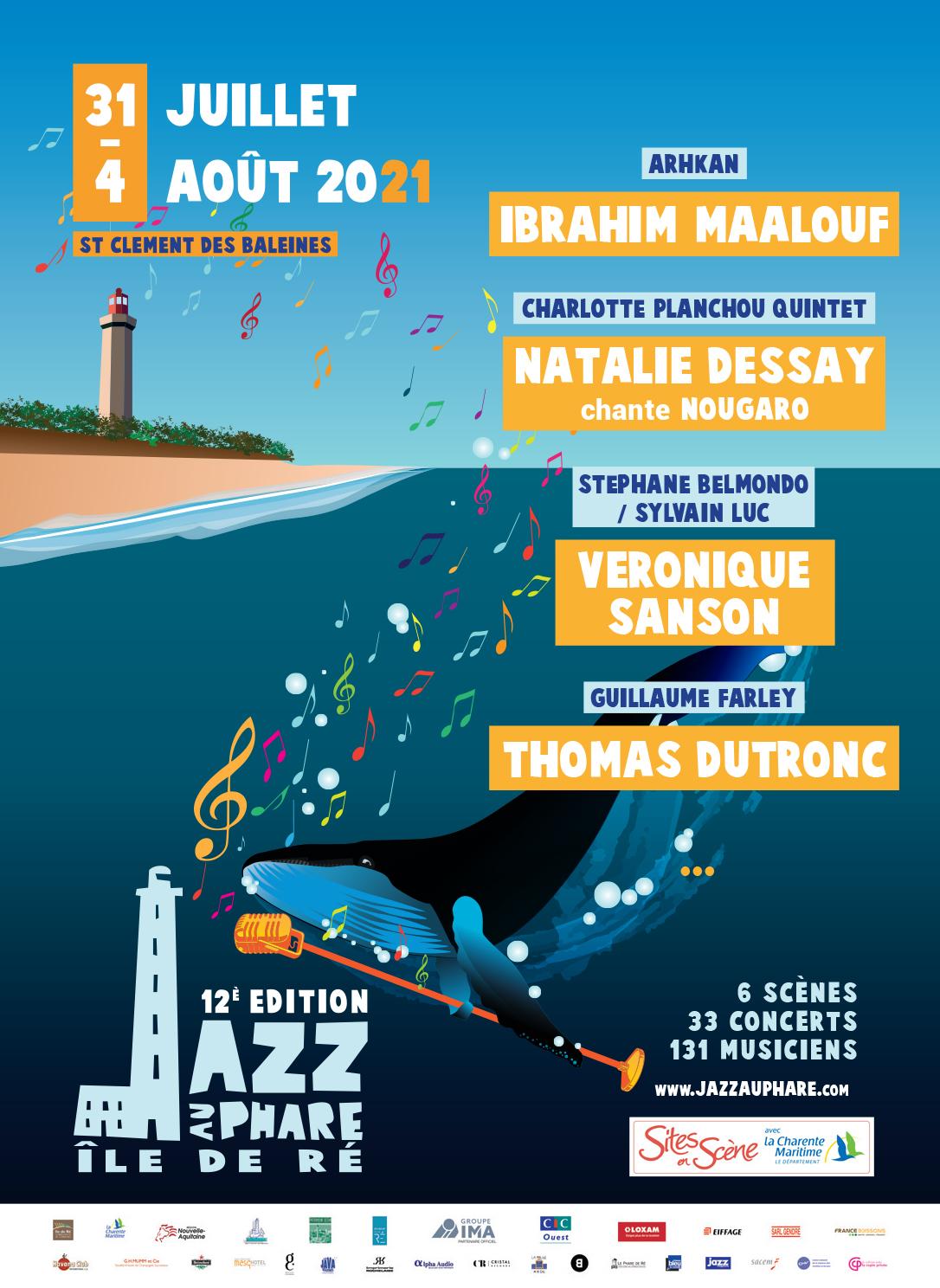 Jazz au Phare 2021 affiche