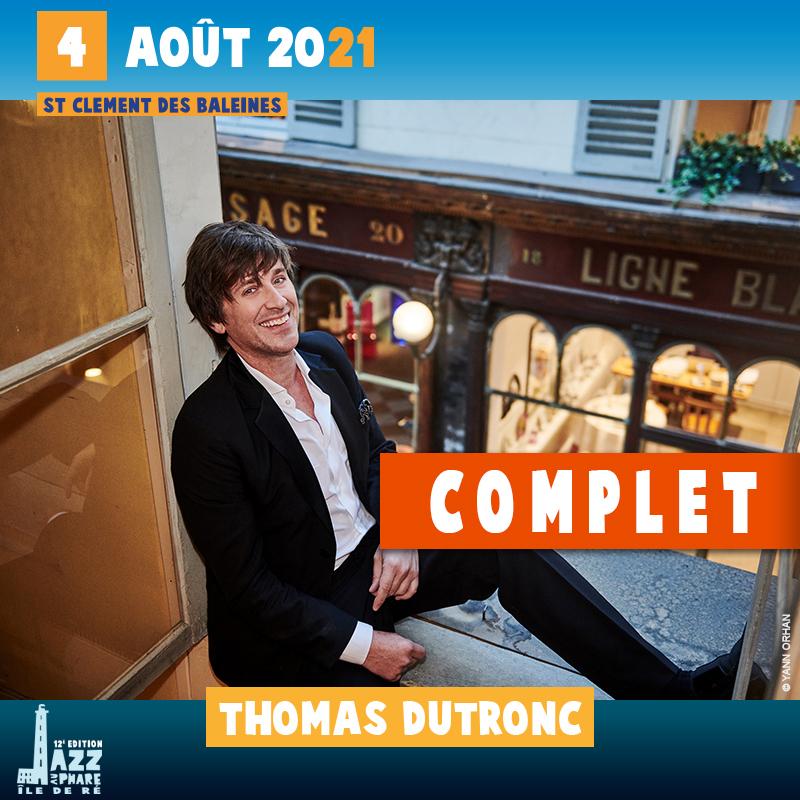 billetterie 2021 Jazz au Phare Thomas Dutronc